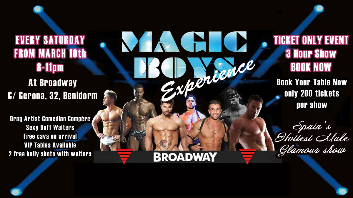Full monty male strip show Benidorm
